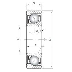 100 mm x 215 mm x 47 mm  ISO 7320 A angular contact ball bearings