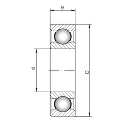 300 mm x 460 mm x 74 mm  ISO 6060 deep groove ball bearings