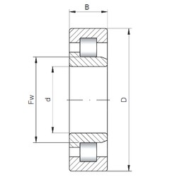 130 mm x 280 mm x 58 mm  ISO NJ326 cylindrical roller bearings
