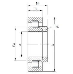 240 mm x 500 mm x 155 mm  ISO NH2348 cylindrical roller bearings