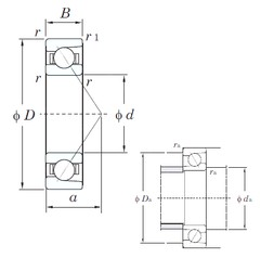 10 mm x 30 mm x 9 mm  KOYO 7200 angular contact ball bearings