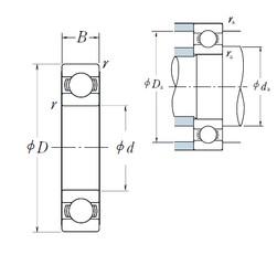 480 mm x 600 mm x 56 mm  NSK 6896 deep groove ball bearings
