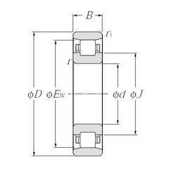 280 mm x 500 mm x 80 mm  NTN N256 cylindrical roller bearings