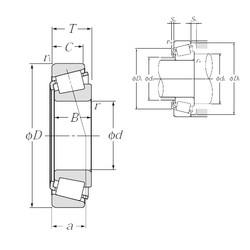 90 mm x 160 mm x 40 mm  NTN 32218U tapered roller bearings