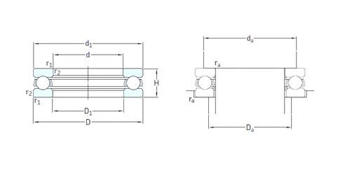 SKF 51214 thrust ball bearings