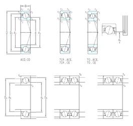 110 mm x 150 mm x 20 mm  SKF 71922 ACE/P4A angular contact ball bearings