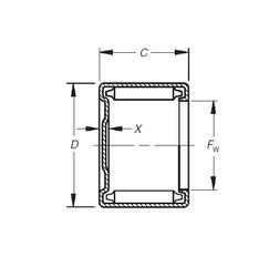 Timken M-2181 needle roller bearings
