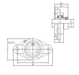 KOYO NANFL208 bearing units