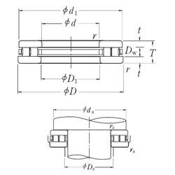 NSK 160TMP93 thrust roller bearings