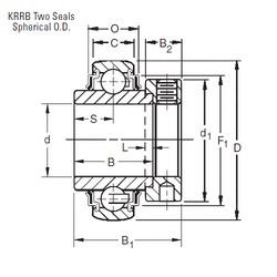 20 mm x 47 mm x 34,13 mm  Timken E20KRRB deep groove ball bearings