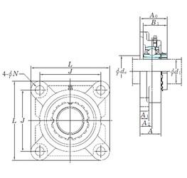 KOYO UKF308 bearing units