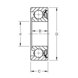 17 mm x 40 mm x 13,67 mm  Timken 203KT deep groove ball bearings