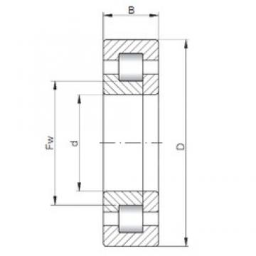130 mm x 280 mm x 58 mm  ISO NUP326 cylindrical roller bearings
