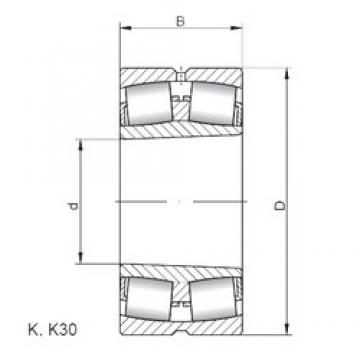 400 mm x 600 mm x 200 mm  ISO 24080 K30W33 spherical roller bearings