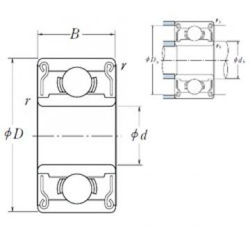 2 mm x 5 mm x 2,5 mm  ISO MR52ZZ deep groove ball bearings