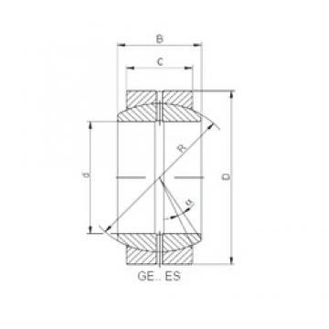 710 mm x 950 mm x 325 mm  ISO GE 710 ES plain bearings