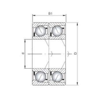 ISO 7036 BDT angular contact ball bearings