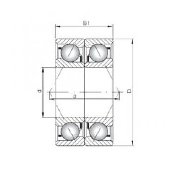 ISO 7316 BDB angular contact ball bearings