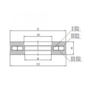 ISO 89326 thrust roller bearings