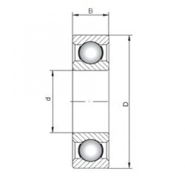 260 mm x 540 mm x 102 mm  ISO 6352 deep groove ball bearings