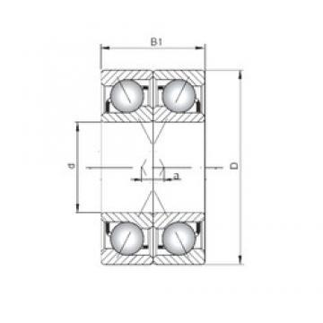 ISO 7036 CDF angular contact ball bearings