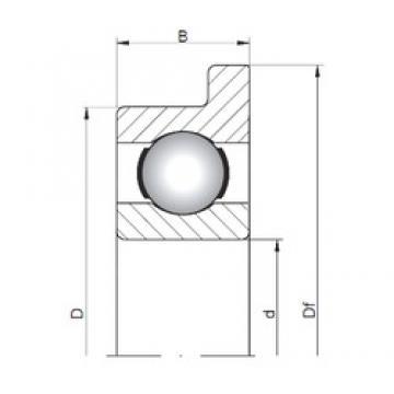 2,5 mm x 8 mm x 2,8 mm  ISO FL60/2,5 deep groove ball bearings