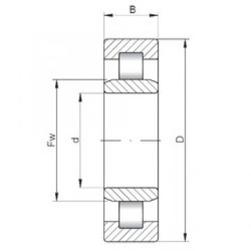 160 mm x 290 mm x 48 mm  ISO NU232 cylindrical roller bearings