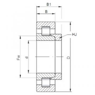 110 mm x 200 mm x 53 mm  ISO NH2222 cylindrical roller bearings
