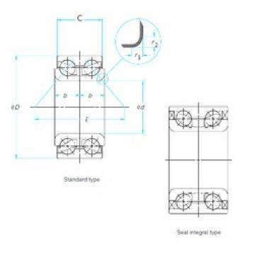 39 mm x 68,07 mm x 37 mm  NSK 39BWD02JCA133 angular contact ball bearings