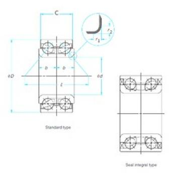 40 mm x 75 mm x 37 mm  Timken 510029 angular contact ball bearings