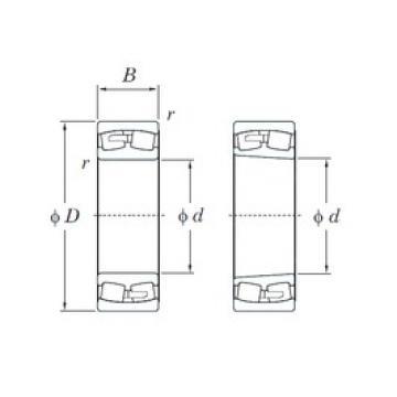 260 mm x 480 mm x 130 mm  KOYO 22252R spherical roller bearings