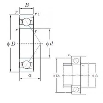 40 mm x 110 mm x 27 mm  KOYO 7408 angular contact ball bearings