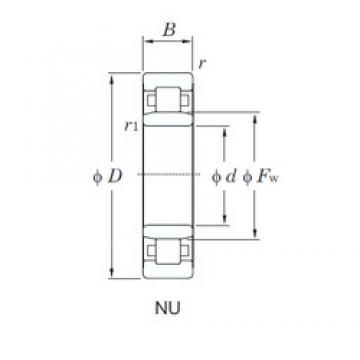 70 mm x 125 mm x 31 mm  KOYO NU2214 cylindrical roller bearings
