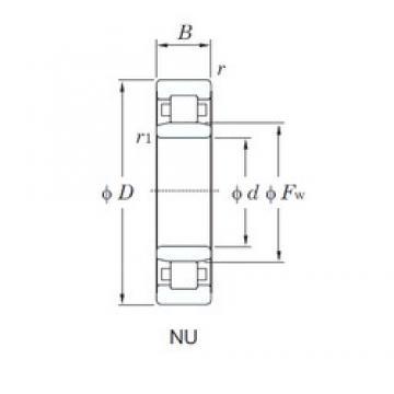 85 mm x 180 mm x 41 mm  KOYO NU317 cylindrical roller bearings