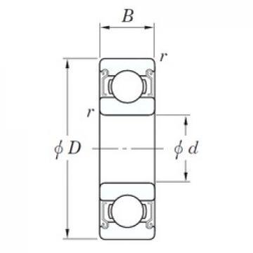 4 mm x 10 mm x 4 mm  KOYO SVWML 4010 ZZST deep groove ball bearings