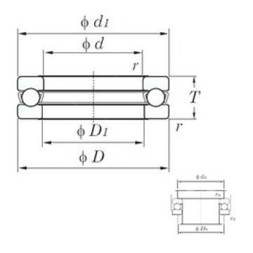 KOYO 51224 thrust ball bearings