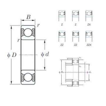 32 mm x 75 mm x 20 mm  KOYO 63/32Z deep groove ball bearings