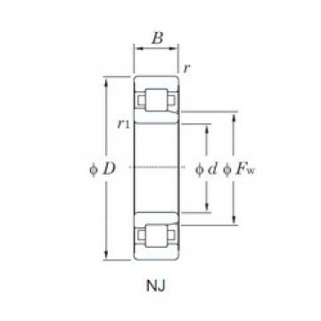 90 mm x 190 mm x 64 mm  KOYO NJ2318R cylindrical roller bearings