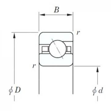203,2 mm x 215,9 mm x 6,35 mm  KOYO KAA080 angular contact ball bearings