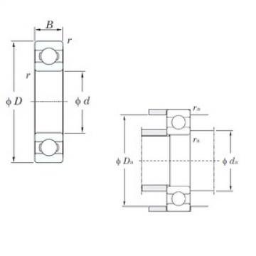 15 mm x 35 mm x 11 mm  KOYO 6202 deep groove ball bearings