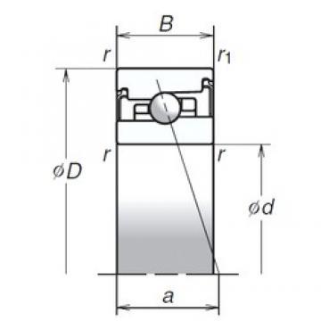 100 mm x 150 mm x 30 mm  NSK 100BER20SV1V angular contact ball bearings