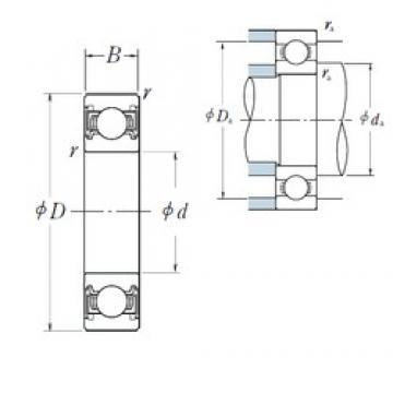 28 mm x 52 mm x 12 mm  NSK 60/28VV deep groove ball bearings