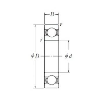 45 mm x 85 mm x 19 mm  NSK 6209L11-H-20ZZ deep groove ball bearings