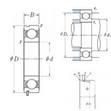 17 mm x 47 mm x 14 mm  NSK 6303N deep groove ball bearings