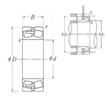 320 mm x 480 mm x 121 mm  NSK 23064CAE4 spherical roller bearings