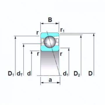 150 mm x 270 mm x 45 mm  NSK 7230CTRSU angular contact ball bearings