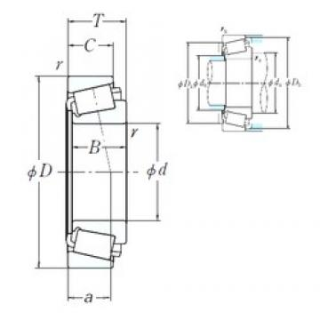 228,6 mm x 355,6 mm x 69,85 mm  NSK EE130902/131400 cylindrical roller bearings