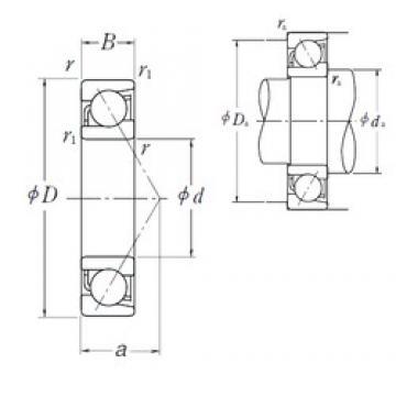 85 mm x 150 mm x 28 mm  NSK 7217 B angular contact ball bearings