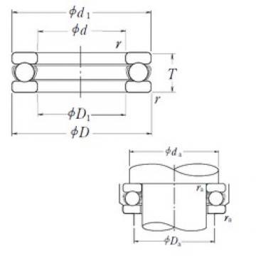 NSK 51413 thrust ball bearings
