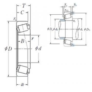 35 mm x 62 mm x 21 mm  NSK HR33007J tapered roller bearings